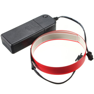 Aa bateria fita eletroluminescente flexível colorida el fita el fio branco/azul/vermelho/rosa/roxo/verde/verde limão/amarelo