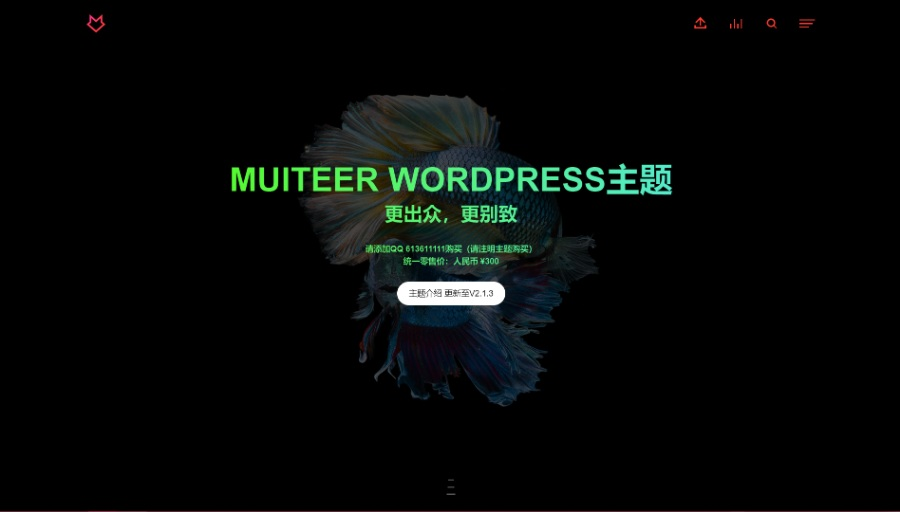 WordPress作品展示主题Muiteer(更新至最新V2.3.8)