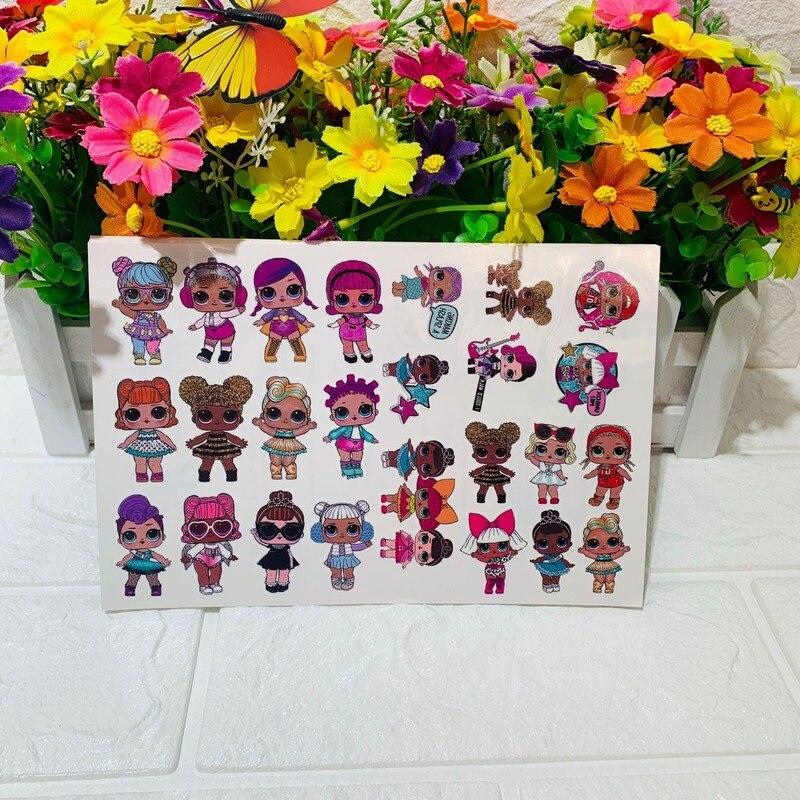 LOL Surprise Dolls Original Tattoo Sticker Random 1PCS Action Figure Surprise Cartoon Girl Christmas Lol Birthday Gifts