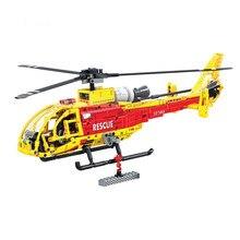 Juego de bloques de construcción de helicóptero para niños, juguete de Ladrillos educativos de bloques de construcción para niños, regalo de Navidad, 7063