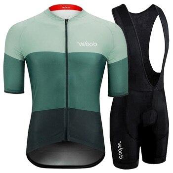 RUNCHITA-Maillot de ciclismo para equipo profesional, Maillot de manga corta y Culote...