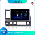 Android Car GPS navigation for Honda Civic 2009 2010 2011 with Android 9.0 Car GPS Radio Player 1 Din 10.2 HD Screen