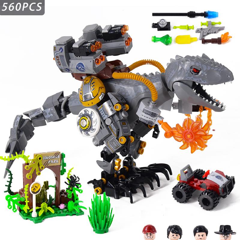 Jurassic Dinosaurs World Animal Park Blocks Building Brick Dinosaur Figures City Dino Robot Toys For Children Christmas Gift
