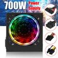 700 Вт 115230 в блок питания PSU PFC 12 см светодиодный бесшумный вентилятор ATX 24pin 12В ПК компьютер SATA игровой блок для Intel AMD рабочего стола