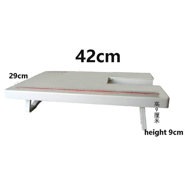 1 piezas mejor precio cantante máquina de coser mesa de extensión para la cantante 4411, 4423, 4432, 5511, 5523, longitud de 420mm de ancho 290MM de alto, 90MM