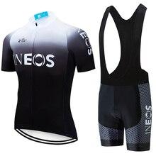 2020 팀 블랙 화이트 새로운 INEOS 프로 사이클링 저지 bibs 반바지 정장 Ropa Ciclismo mens 여름 빠른 건조 자전거 Maillot 착용