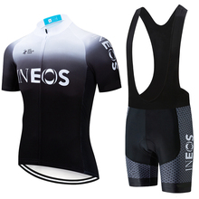2020 zespół czarny biały nowy INEOS PRO jazda na rowerze jersey śliniaki szorty garnitur Ropa Ciclismo męskie lato szybkie pranie BICYCLING Maillot wear