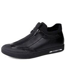 2019 Winter Sneakers Mens Warm Plush Shoes Slip On Erkek Ayakkabi 4#15/15E50