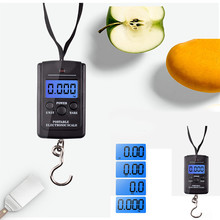 40kg *10g Digital Scale for Fishing Luggage Steelyard Hanging Electronic Scale Hook Scale Kitchen Weight Tool new portable milligram digital scale 30g x 0 001g electronic scale diamond jewelry pocket scale home kitchen
