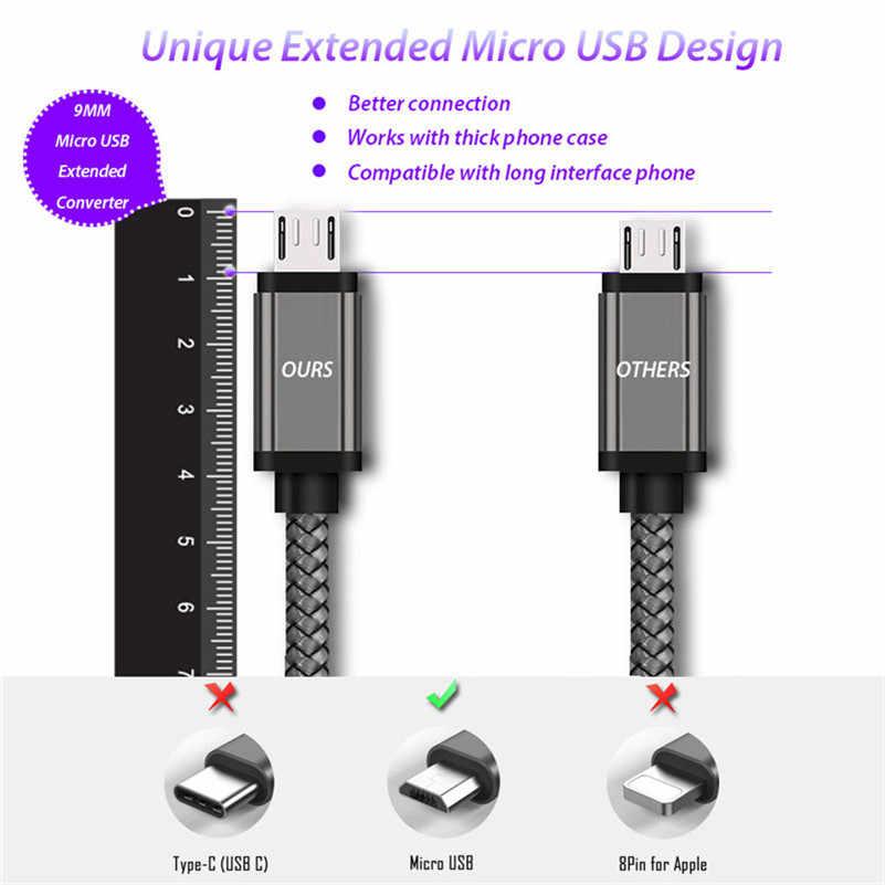Cable de carga Micro USB de 10MM de largo para Blackview A7/A20/A30/BV6000 Bv5500 Bv1000 Oukitel K10000/K3 C12 Pro, Cable de cargador Kabel