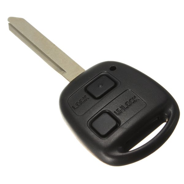 2 Button Car Remote Key Shell Repair Kit Switches Buttons Toy47 With Uncut Blade For Toyota Avensis