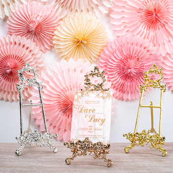 Wedding decoration decoration dessert table photo frame gold silver