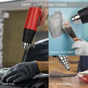 Image 4 - NEWACALOX chauffe eau thermique 2000W, 220V, prise ue, pour pistolets à Air chaud électriques industriels, régulateur à écran LCD, rétrécissement