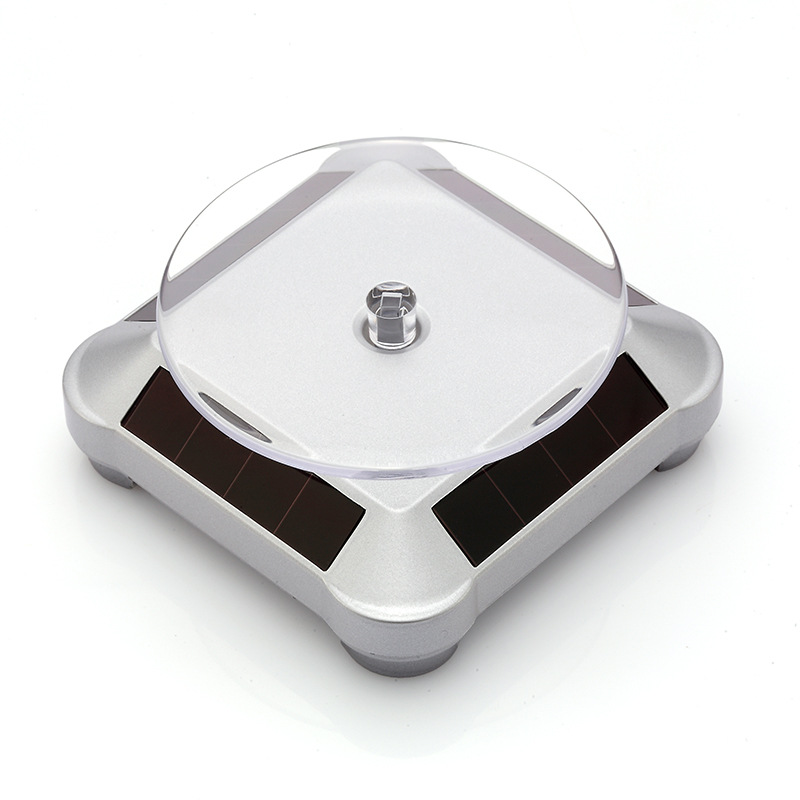 Solar Rotating Table Jewelry Accessories Electric Turntable Showing Stand Mobile Watch Garage Kit Jade Glasses Tray