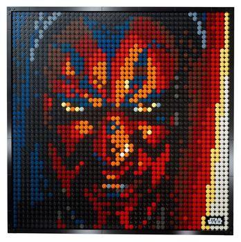 Imagen de píxel mosaico pintura MOC DIY conjunto Super estrella Avatar bloques de construcción para regalo de arte Star Wars pintura decorativa 31199/31197/31198