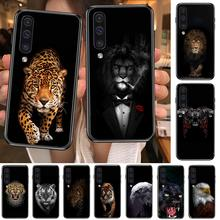 Luxury Black Shell Cover Wolf Lion tiger Animal Phone cover hull For SamSung Galaxy S 8 9 10 20 21 S30 Plus Edge E S20fe  5G Lit