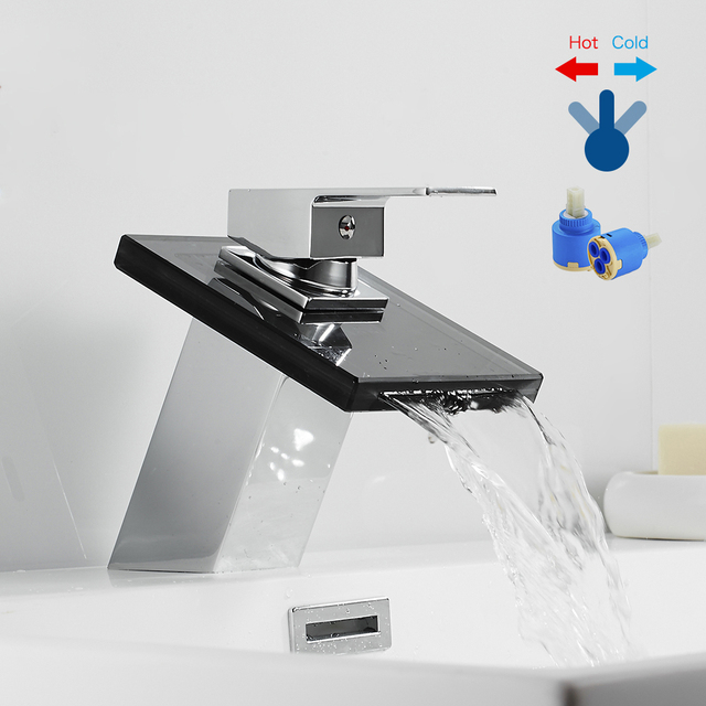 Waterfall Glass Basin Faucet