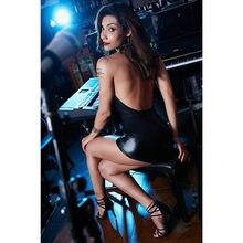 Женский клубный сексуальный облегающий мини-комбинезон без рукавов комбинезон с открытой спиной модные шорты для женщин