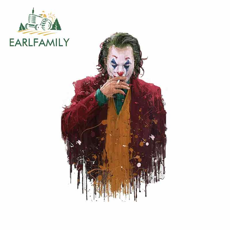 EARLFAMILY 13cm X 7.3cm For The Joker Paint Funny Car Stickers Vinyl Car Wrap DIY Motorcycle Stickers Fashion Bumper Decoration