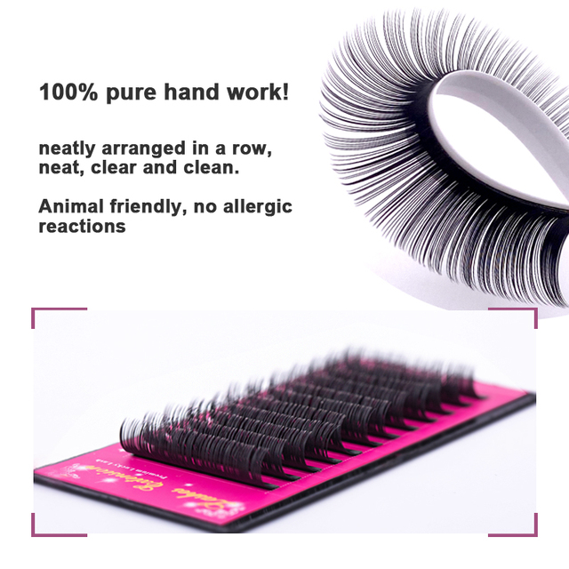 Lucky Lash 8~15mm and mix premium natural synthetic mink individual eyelash extension makeup cilia professional 2