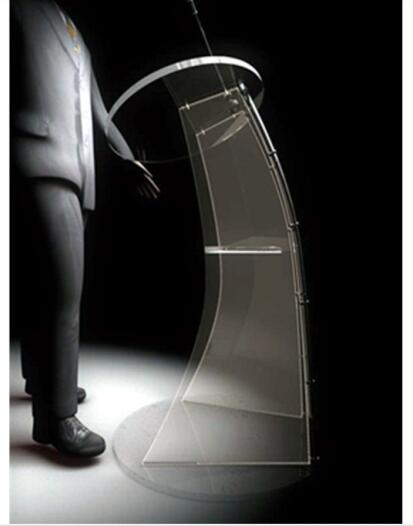 Floor Standing Acrylic Speech Lectern Acrylic Modern Design Podium Pulpit