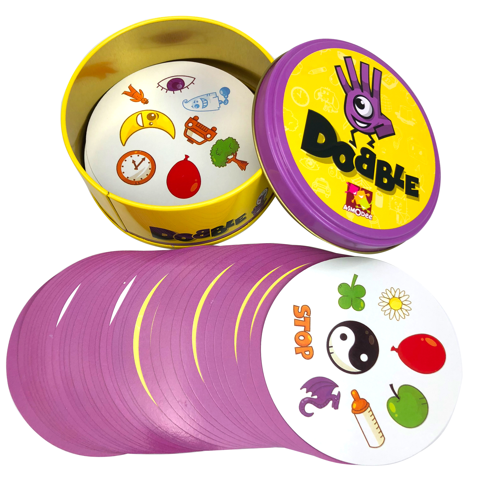 Card-Game Table Spot-Cards Tin-Box English-Toys Basic SHALOM Dobble Kids Camping And