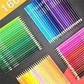 Lápis colorido oleoso conjunto 48/72/120/150/160 cores pintura a óleo desenho arte suprimentos para escrever desenho lapis de cor arte suprimentos