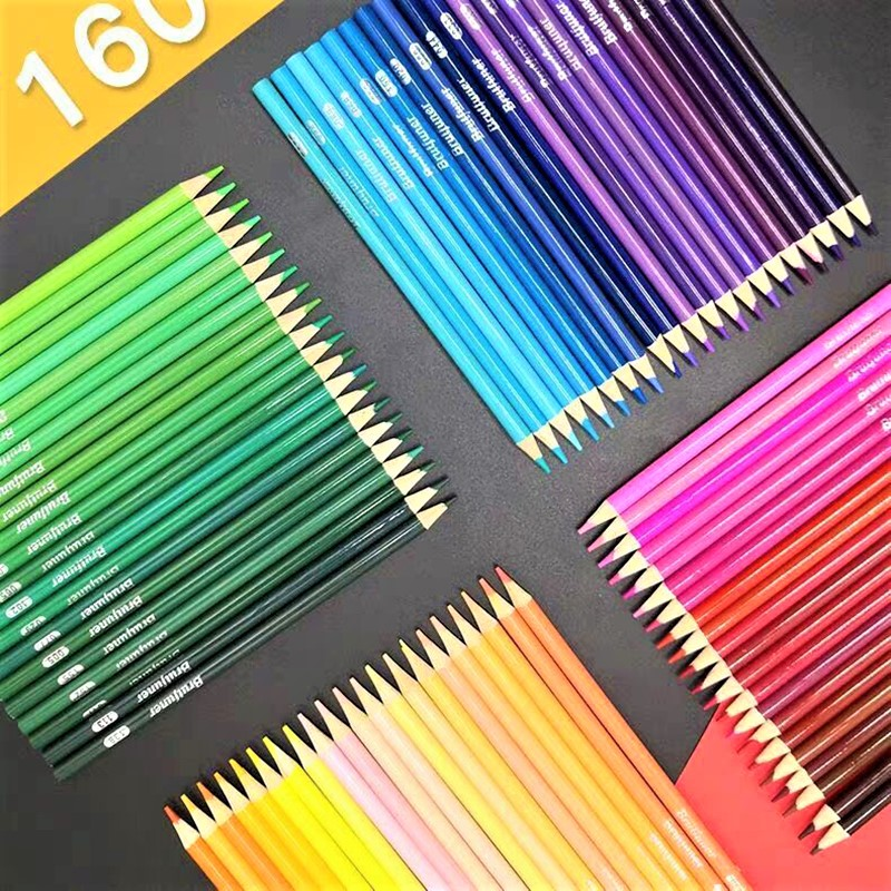 Oily Colored Pencil Set 48/72/120/150/160 Colors Oil Painting Drawing Art Supplies For Write Drawing Lapis De Cor Art Supplies