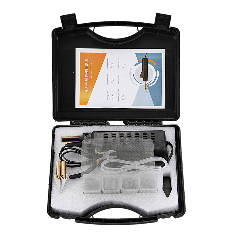 220-250V Car Bumper Plastic Welding Torch Fairing Auto Body Tool Hot Stapler Eu Plug
