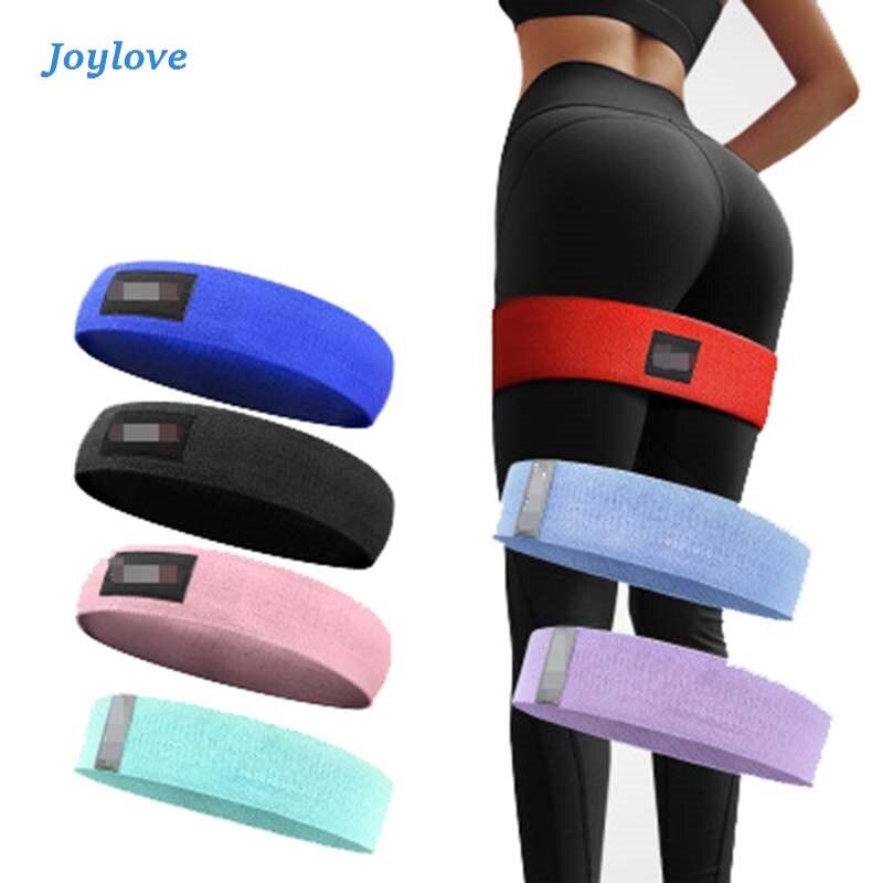 JOYLOVE Fitness Hip Loop Resistance Bands Anti-slip Squats Expander Strength Rubber Yoga Gym Training Braided Elastic Sports
