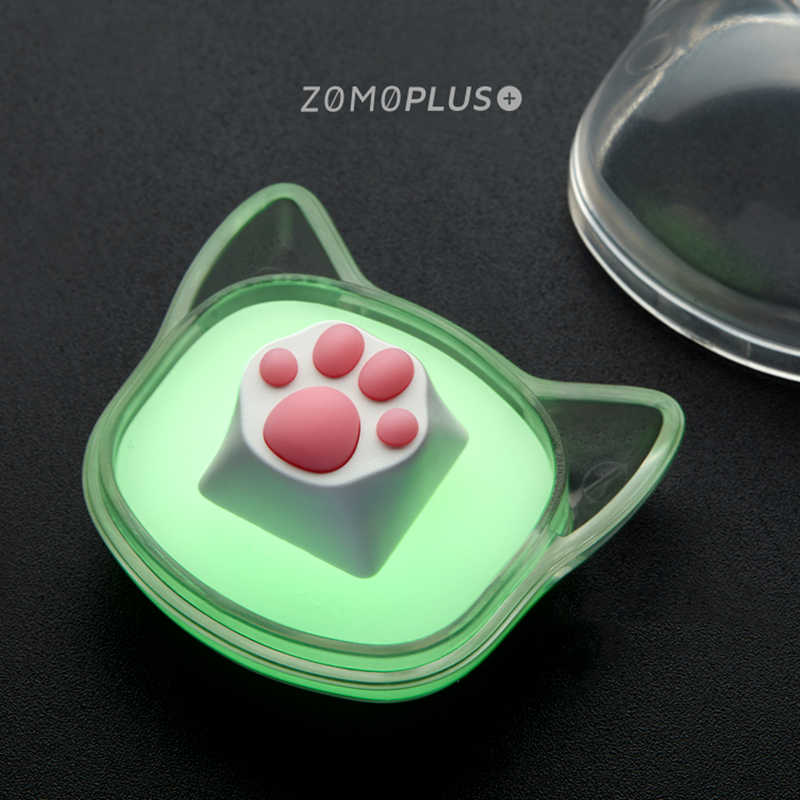 หมวกคีย์บอร์ด keycap บุคลิกภาพการออกแบบแมวน่ารัก PAW การสร้างแบบจำลอง keycap ABS ซิลิโคนคีย์บอร์ด MX แกน,Z18