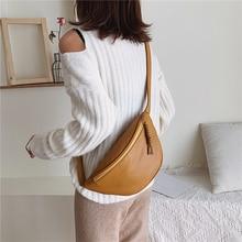 Banana-Pack Belt-Bag Crossbody Large-Capacity Women Ladies PU 4-Colors