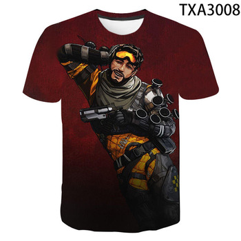3D T-shirt Apex Legends 3D Printed T Shirt Men Women Children  Summer Short Sleeve Tops Tees Boy Girl Kids Tops Cool Tees 2