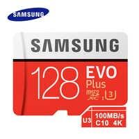 SAMSUNG Micro tarjeta TF tarjeta SD Clase 10 tarjeta de memoria EVO Plus de 100 MB/S microSD 256GB 128GB 64GB 32GB 16GB cartao GB de memoria de