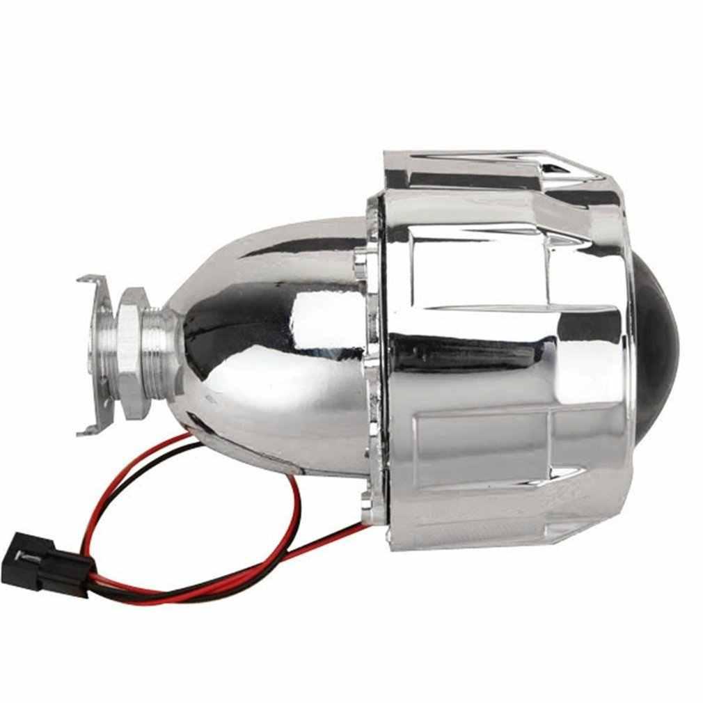 2,5 pulgadas faro H1 H3 H4 H7 H11 9005 Xenon Mini bi-xenon HID Clear proyector lente cubierta linterna de cubierta personalizada plata