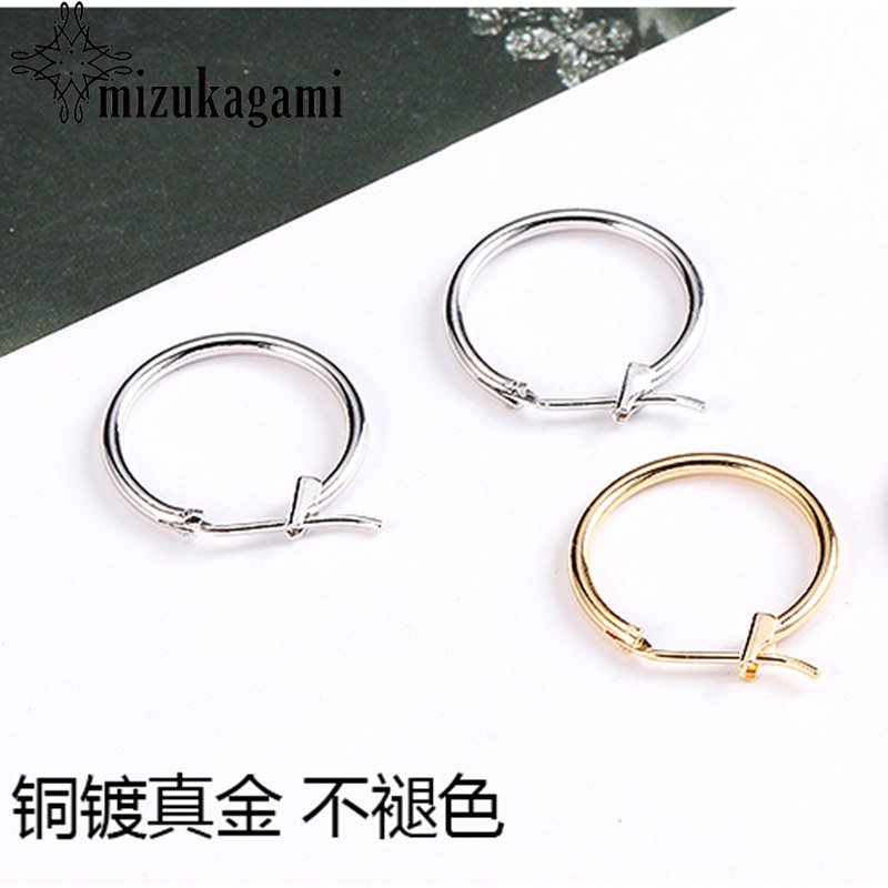 2pcs/lot Copper Plated Gold Earrings Gold Earrings Diy Handmade Ear Jewelry Material Package Accessories