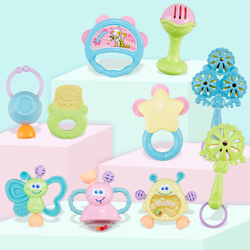 Toy Boy Newborn 6 Months Infant Unisex Teethers Hand Rattle GIRL'S Baby 0-1-Year-Old Kids