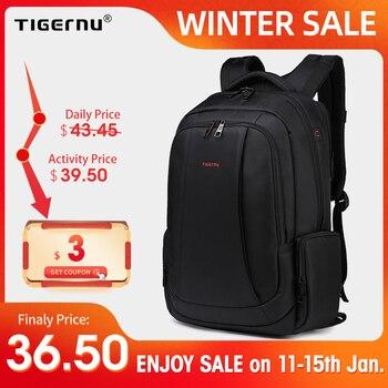 Tigernu Anti Theft Нейлон 27L Мужчины 15.6 дюймов Рюкзаки для Ноутбука Мода Путешествия Мужской Повседневная Женская Школьная сумка Использовать