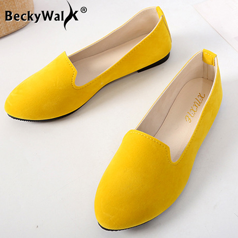 2021 spring and autumn casual women's shoes women's flat shoes women in candy colored suede work shoes WSH2216