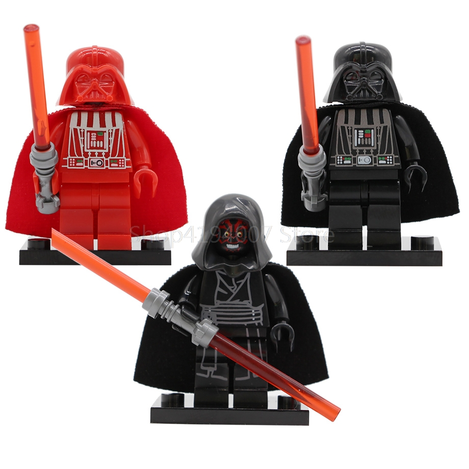 Single Sale Starwars Darth Vader Figure Darth Maul Revan Anakin Building Blocks Set Model Kits Bricks Toy for Children Legoing image