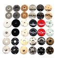 10 sets gold black silver big Round Invisible Snap Fasteners Press Button for suit jacket clasp mink coat accessories DIY