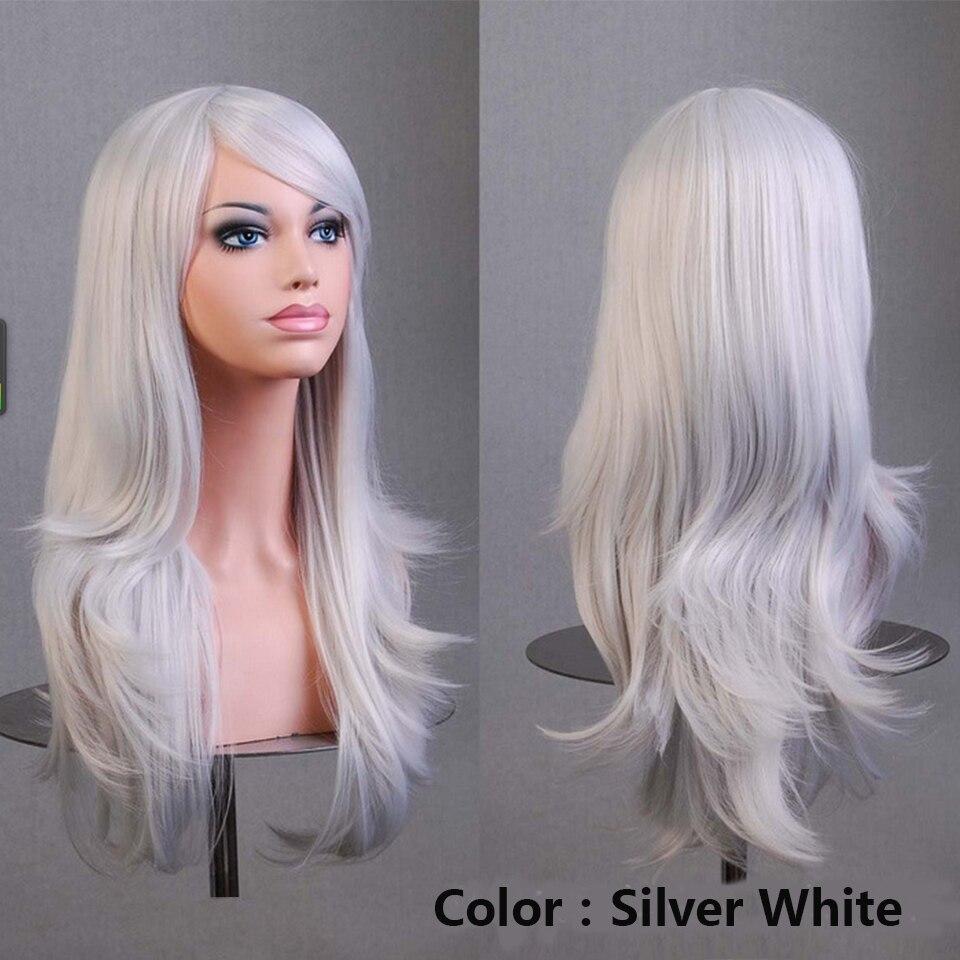 azul rosa peruca resistente ao calor perucas
