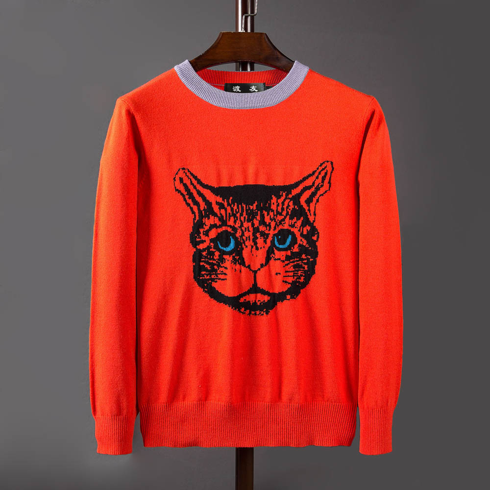 New Autumn Winter Fashion Brand Clothing Casual Sweater Men Crewneck Slim Fit Mens Sweaters And Pullovers