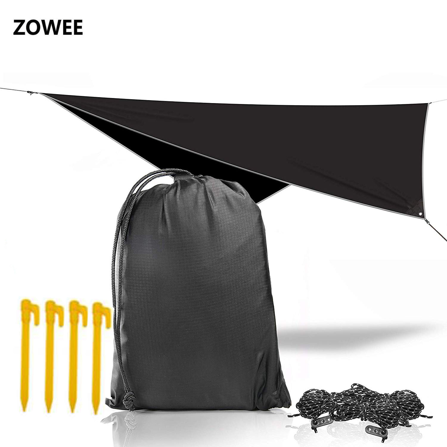Ultralight Outdoor Portable Rain Tarp Awning Hanging Tent  Large Multi-functional Folding UV Proof Waterproof