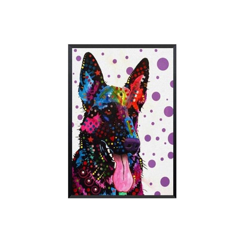 Полная квадратная/круглая дрель 5D DIY алмазная живопись красочная собака 3D вышивка крестиком домашний Декор подарок