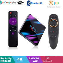 H96 MAX RK3318 Smart TV Box z systemem Android 10.0 4GB 32GB 64GB 4K Youtube odtwarzacz multimedialny H96MAX TV BOX Android TV Google Play pudełko