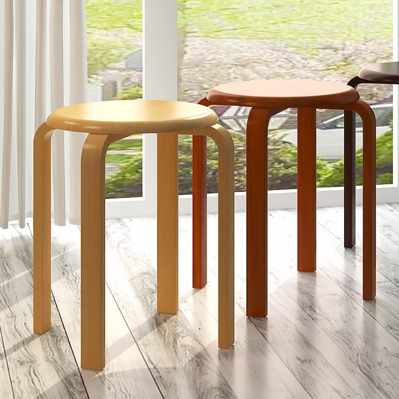 Wholesale Solid Wood Stool Modern Minimalist Household Stool Creative Table Stool Fashion Stool Wooden Bench