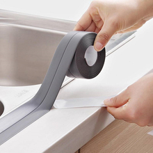 3.2M*38MM Durable Kitchen Bathroom Self Adhesive Wall Seal Ring Tape WC Waterproof PE Tape Mold Proof Edge Trim Tape Accessory