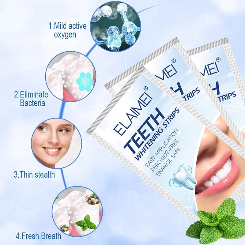 Полоски улучшенные эластичные для отбеливания зубов гигиена