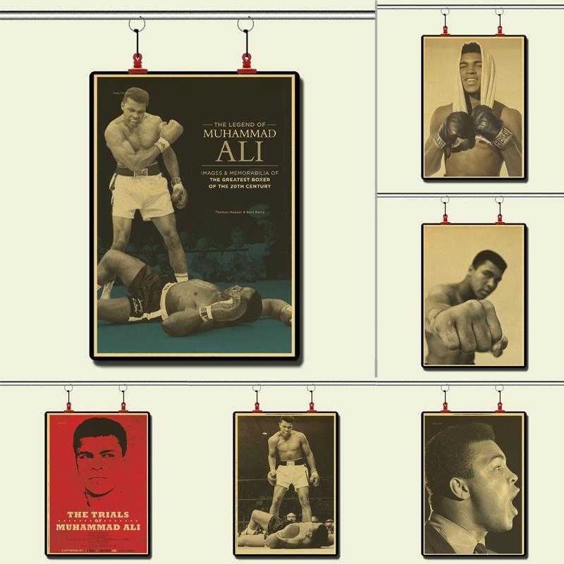 Боксерский Чемпион Мохаммед Али побить его винтажный бумажный постер настенная живопись украшение дома 42X30 см 30X21 см